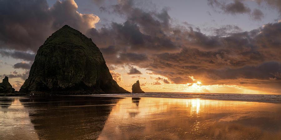 Landscape Photograph - Cannon Beach Sunset by Justin Johnson