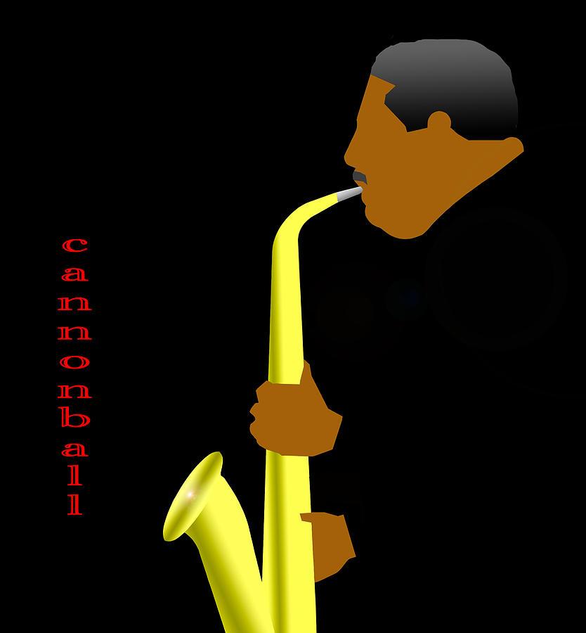 Jazz Digital Art - Cannonball Adderly by Victor Bailey
