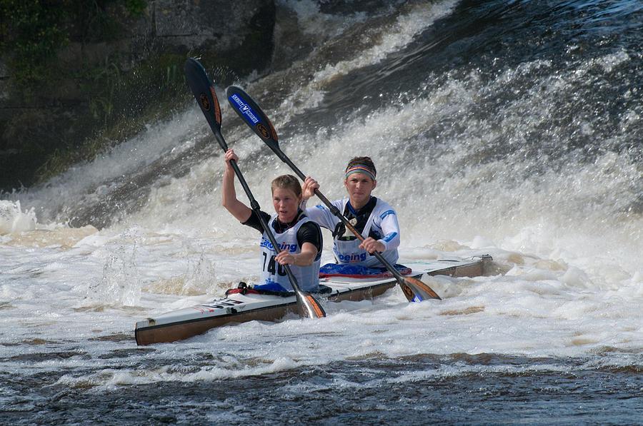 Canoe Photograph - Canoe Action by Joe Houghton