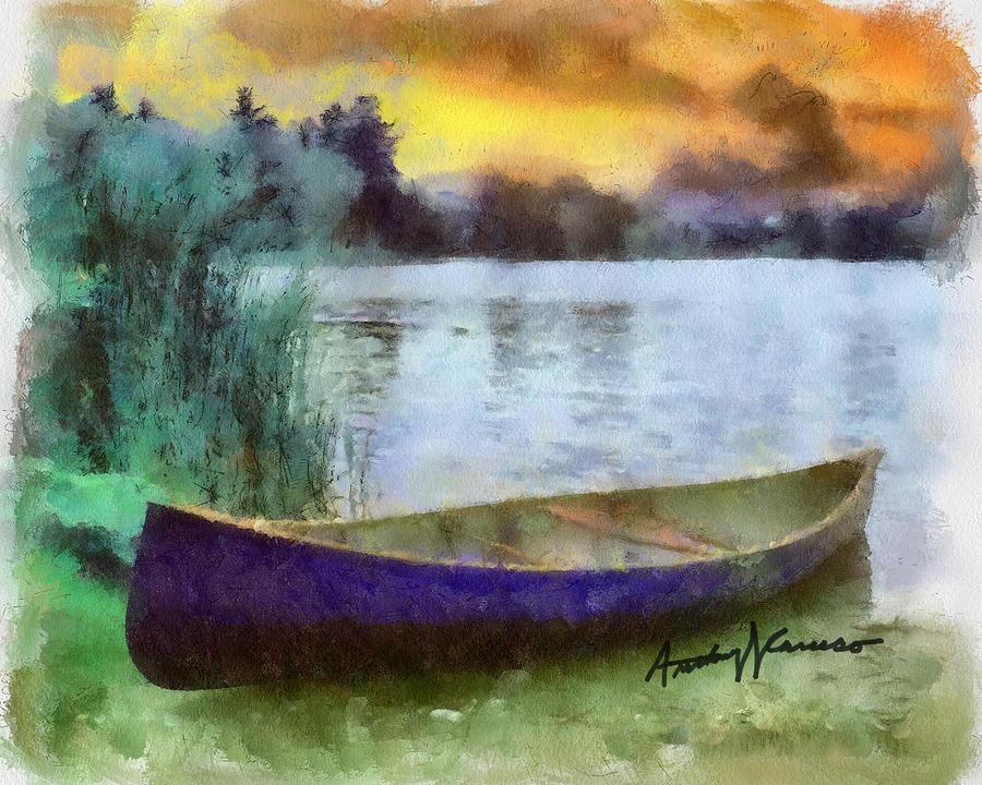 Canoe Painting - Canoe by Anthony Caruso