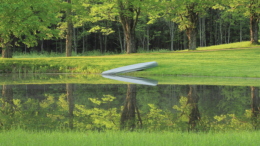 Canoe Photograph - Canoe At Ponds Edge by Brian Pflanz