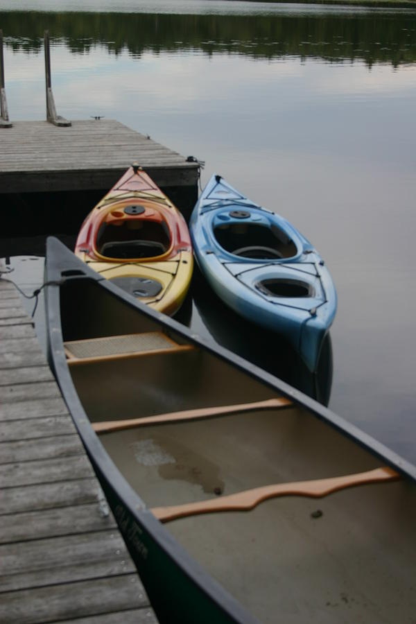 Lakeside Photograph - Canoe by Dennis Curry