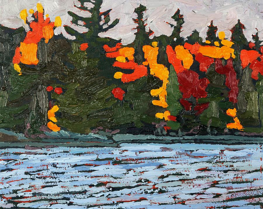1845 Painting - Canoe Lake Colours by Phil Chadwick
