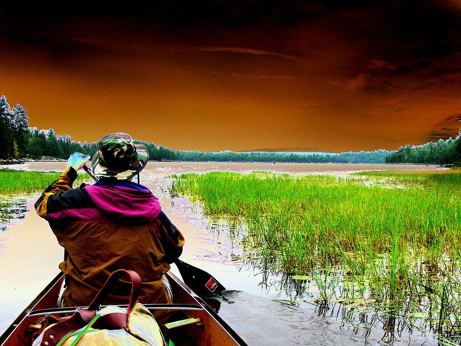 Canoe Digital Art - Canoe Trip by Peter  McIntosh