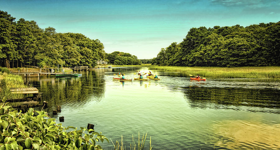 Canoe Photograph - Canoeing by Gina Cormier