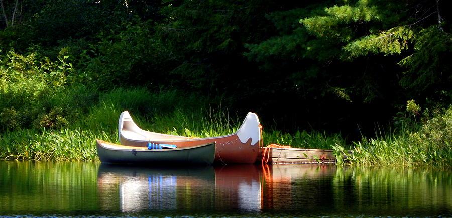 Karen Cook Photograph - Canoes Of Keji by Karen Cook