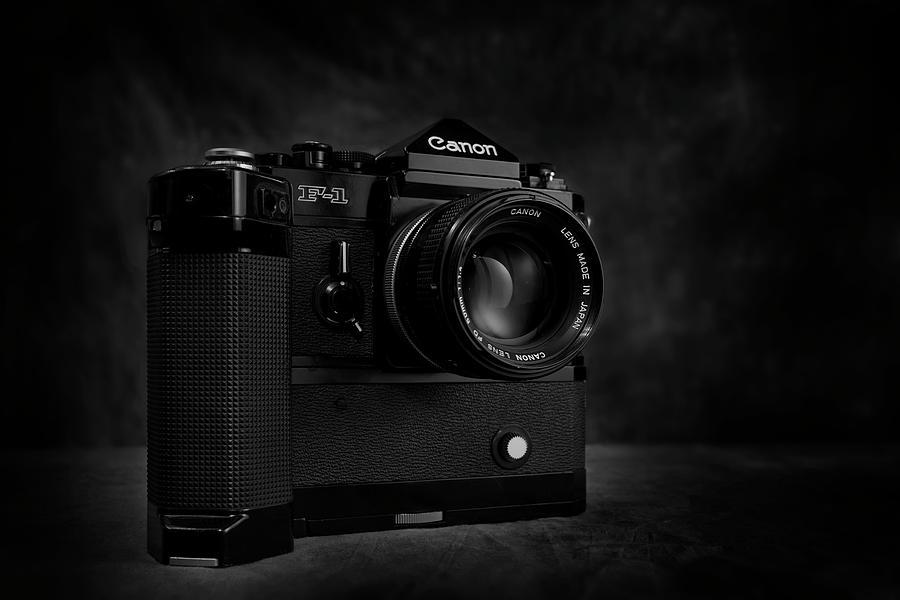 Bw Photograph - Canon F-1 by Mark Wagoner