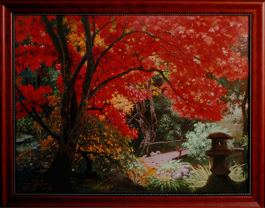 Oriental Painting - Canopy Of Red by Stephen Lucas