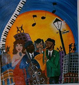 Jazz Painting - Cant Keep Us Down by Trish Laffrenere