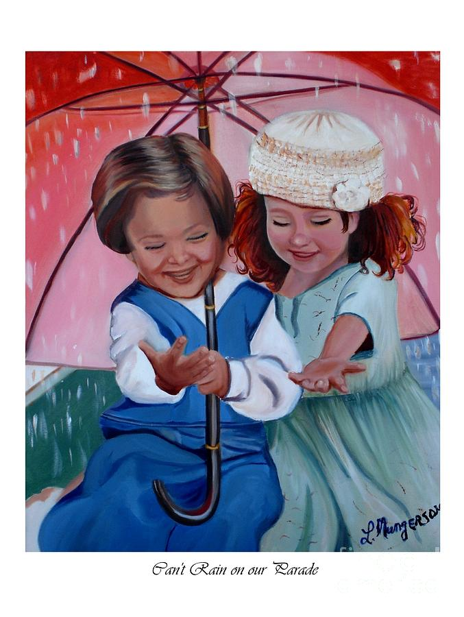 Children Painting - Cant Rain On Our Parade by Linda Mungerson