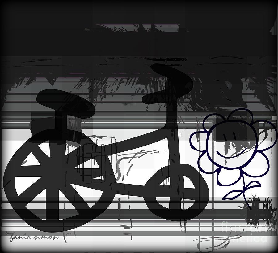 Fania Simon Digital Art - Cant Ride A Bike But I Can Fly by Fania Simon