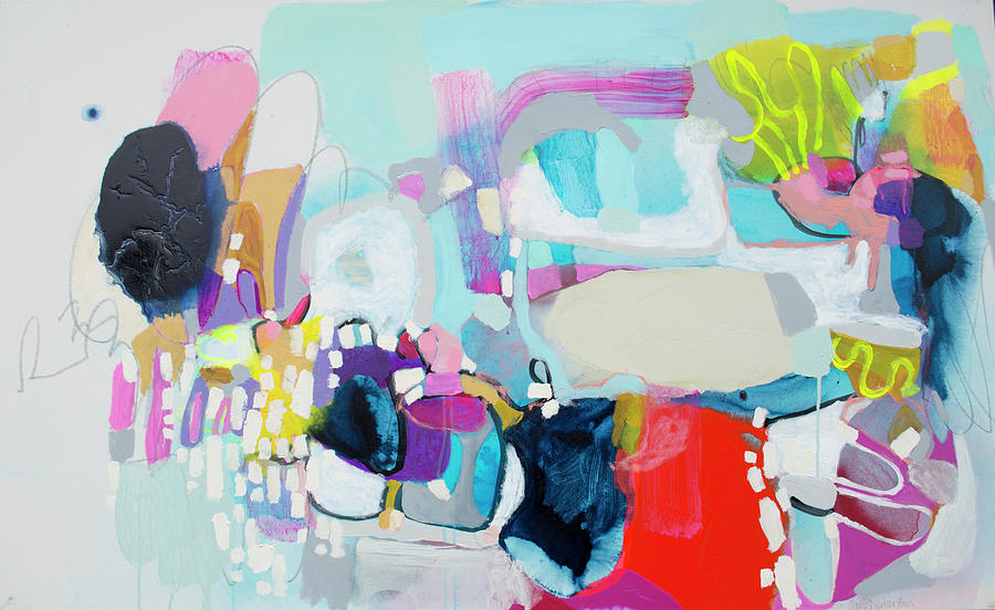 Abstract Painting - Cant Wait by Claire Desjardins