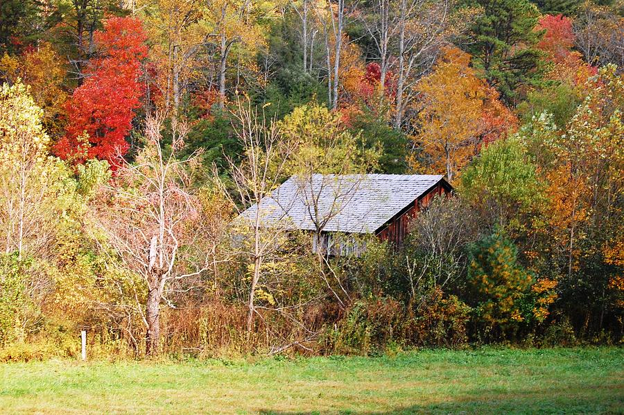 Autumn Photograph - Cantilever Barn - Autumn by Faye Bryant