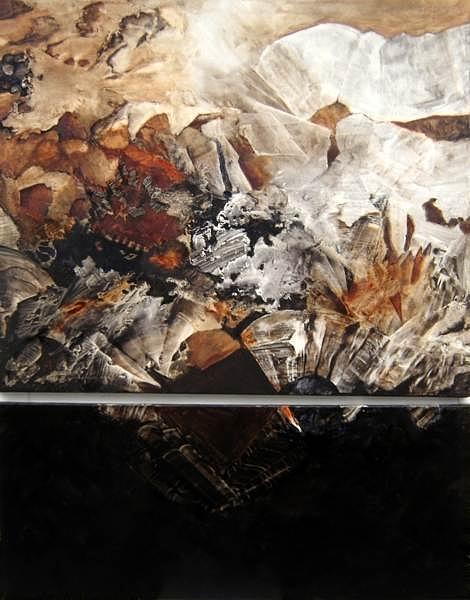 Abstract Painting - Canto  A La Armonia- Diptrich by Sara  Diciero