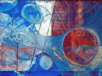 Pirana Painting - Canto Del Trascurrir by Liliana Beatriz Arnillas