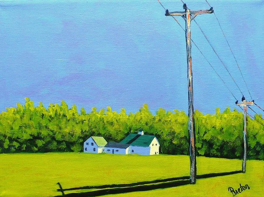 Landscape Painting - Canton Morning by Laurie Breton
