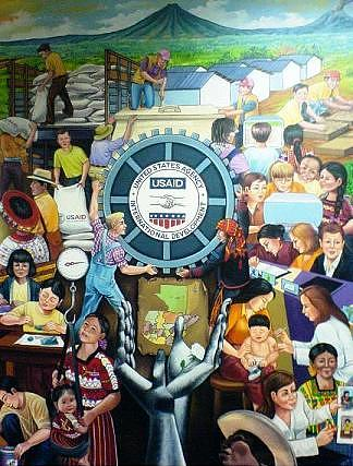 Union Painting - Canva 2 Usaid Triptych  Mural by Maugdo Vasquez