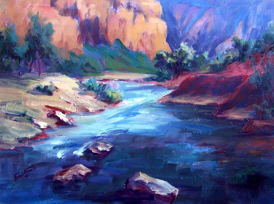 Canyon Color Painting by Geri Acosta