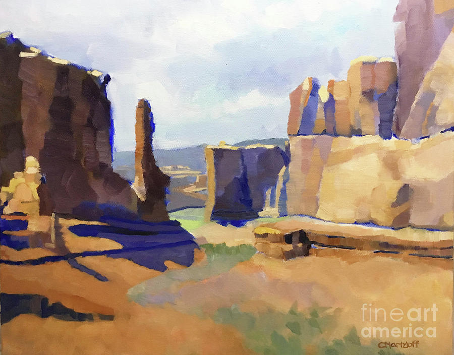 Grand Canyon Painting - Canyon Dreams by Catherine Martzloff