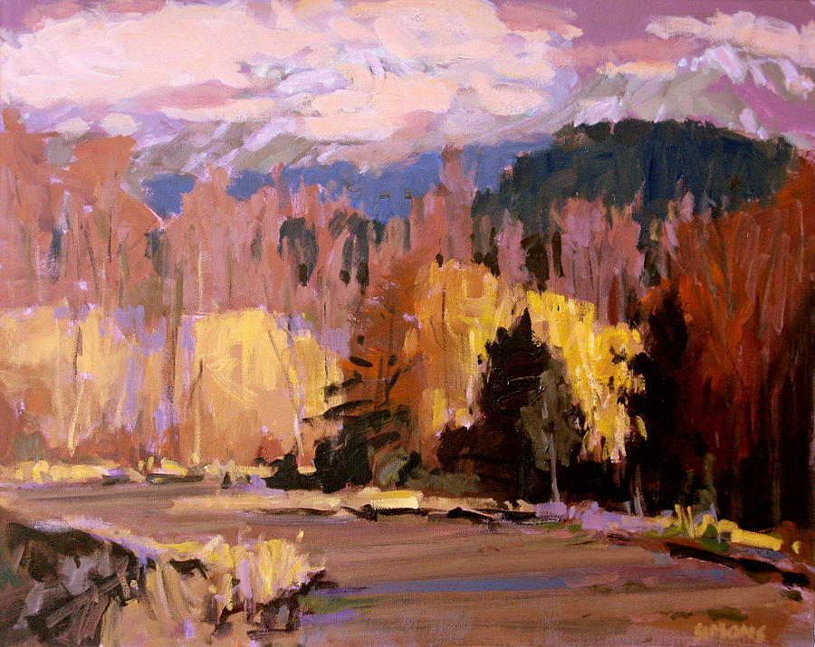 Paintings Painting - Canyon Drive by Brian Simons