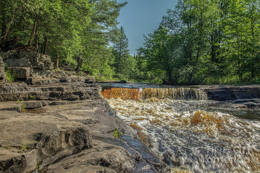 Michigan Photograph - Canyon Falls Sturgeon River by Nikki Vig