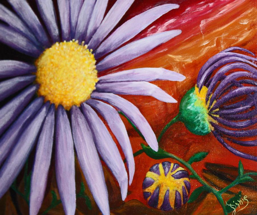 Flower Painting - Canyon Flower by Dixie Hester