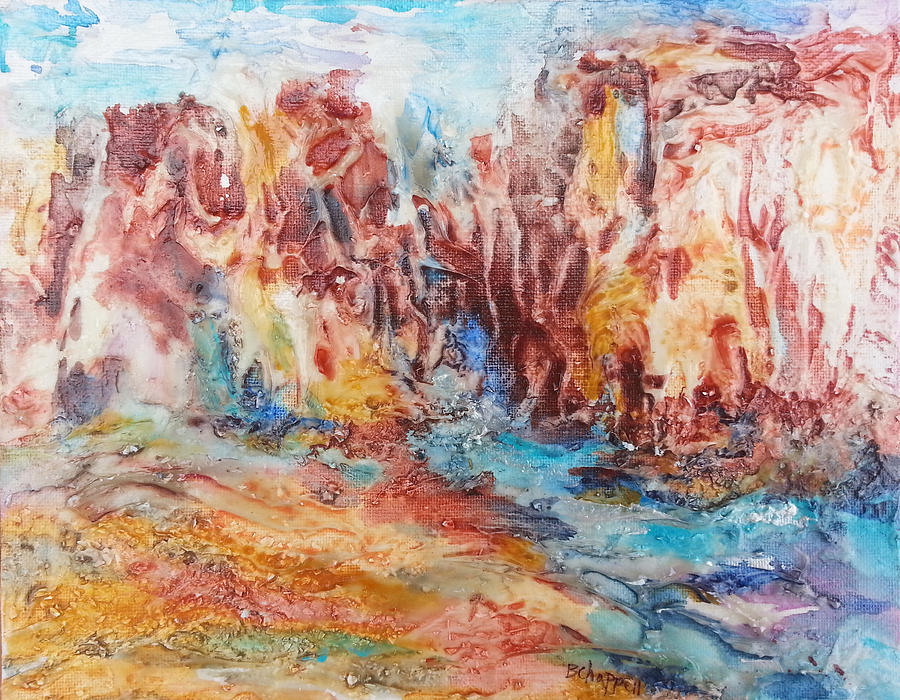 Landscape Painting - Canyon Mouth by Becky Chappell