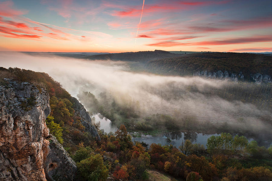 Dawn Photograph - Canyon Of Mists by Evgeni Dinev