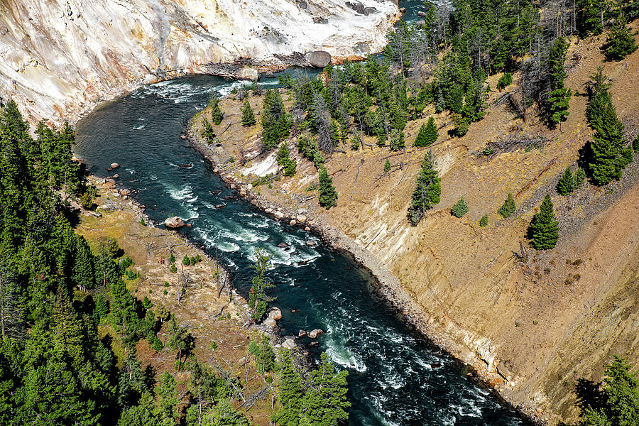 Canyon of Yellowstone River by Alex Galkin