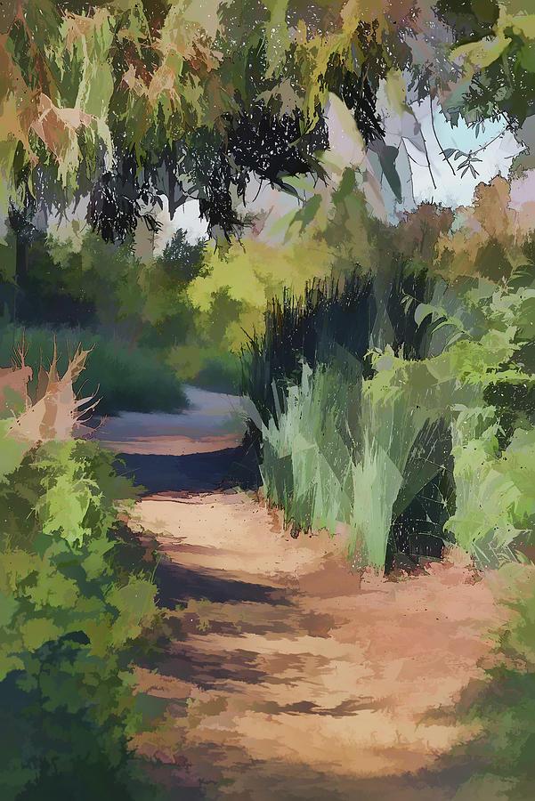 Canyon Path II Painterly Digital Art
