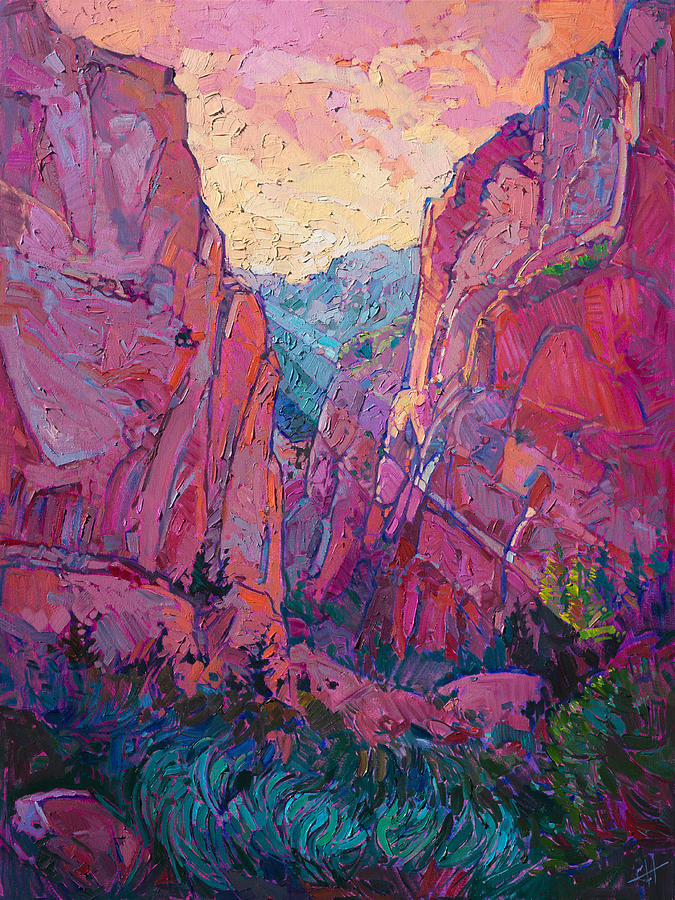 Canyon Rays Painting By Erin Hanson