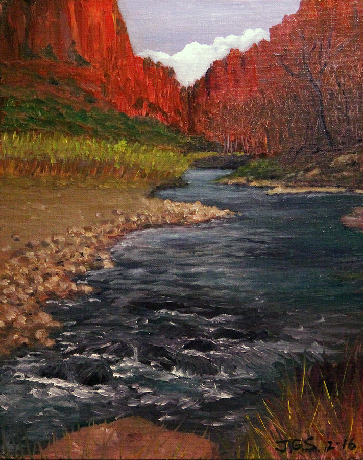 Canyon River by Janet Greer Sammons
