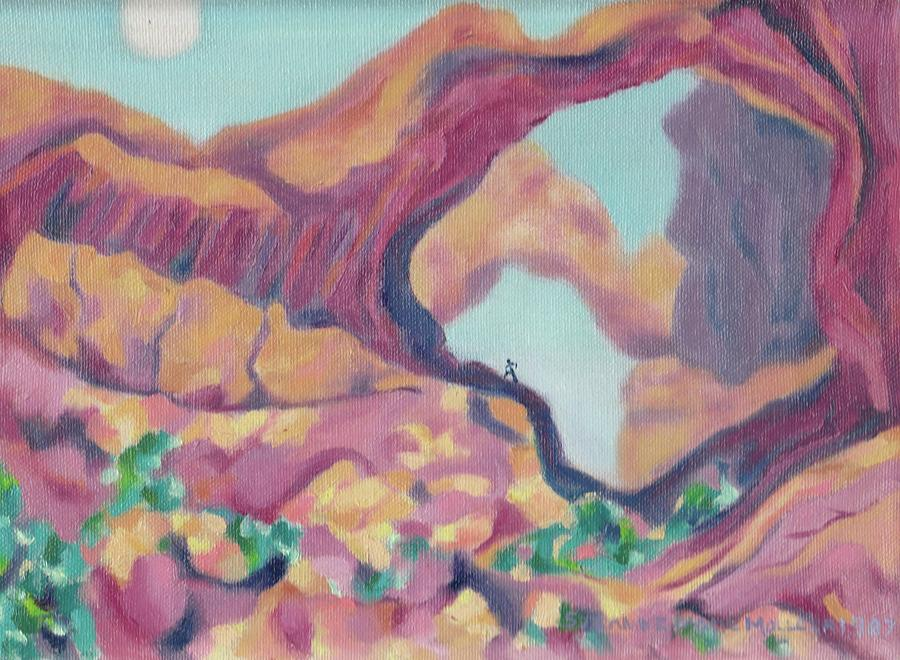 Utah Painting - Canyon by Suzanne  Marie Leclair