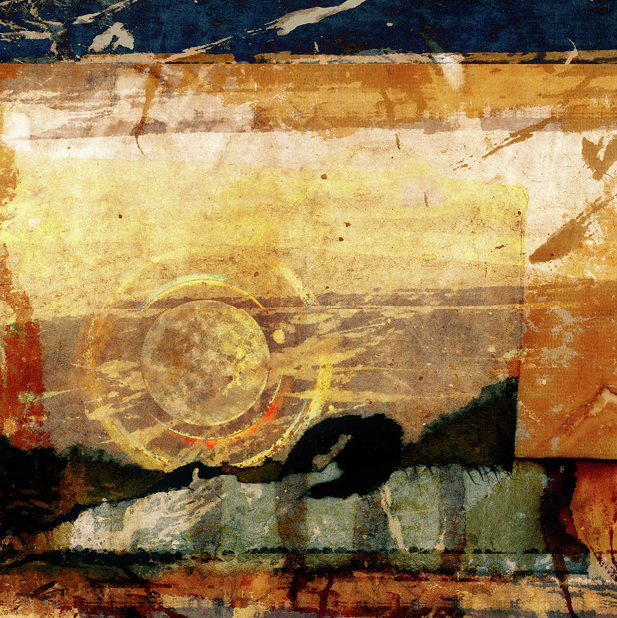Southwest Mixed Media - Canyon Walls Square by Carol Leigh