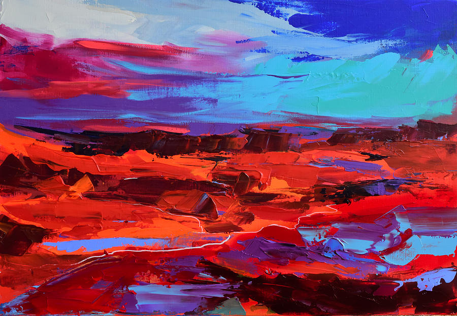 Canyon at Dusk - Art by Elise Palmigiani by Elise Palmigiani