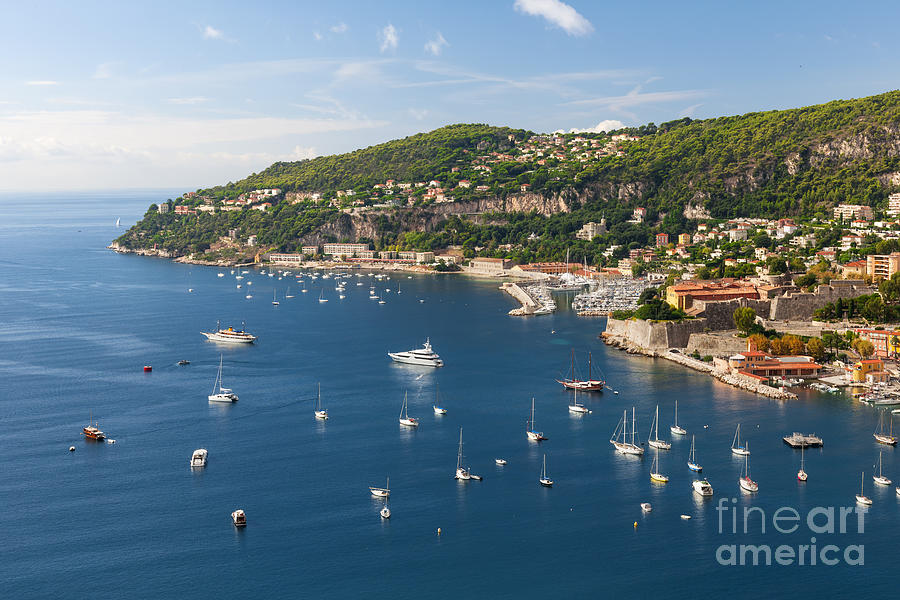 French Photograph - Cap De Nice And Villefranche-sur-mer On French Riviera by Elena Elisseeva