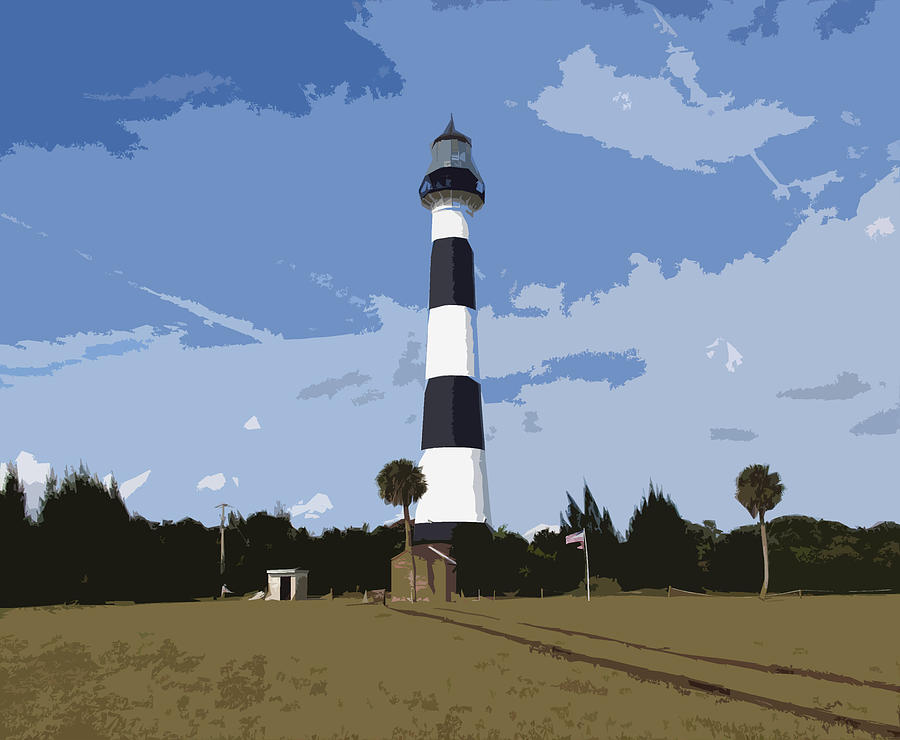 Cape Painting - Cape Canaveral Light by Allan  Hughes
