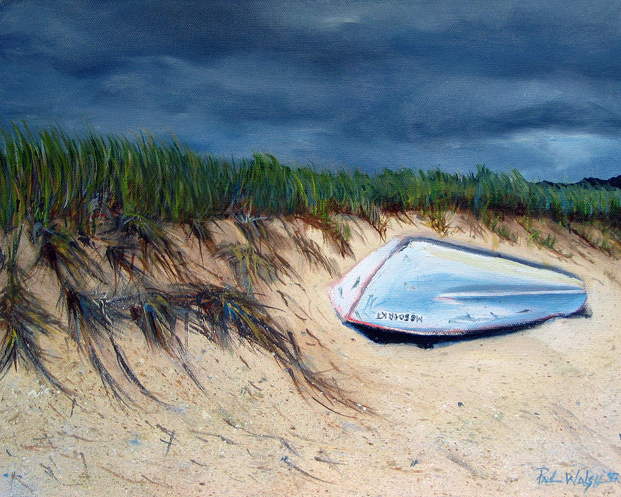 Cape Cod Boat Painting By Paul Walsh