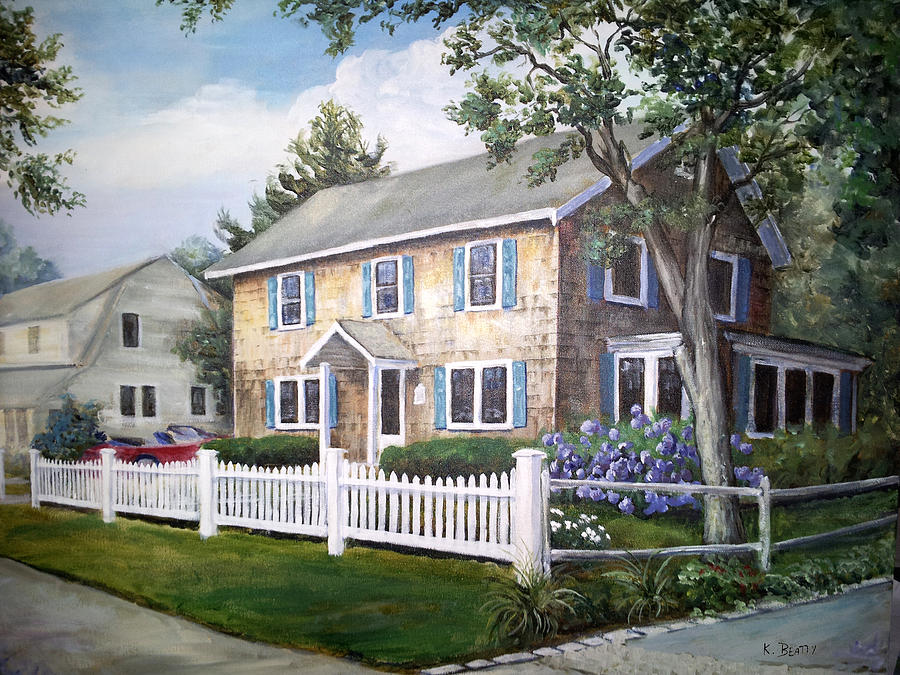 Acrylic Painting - Cape Cod House Painting by Karla Beatty
