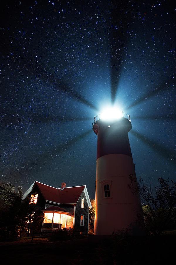 Cape Cod Light Beams Photograph
