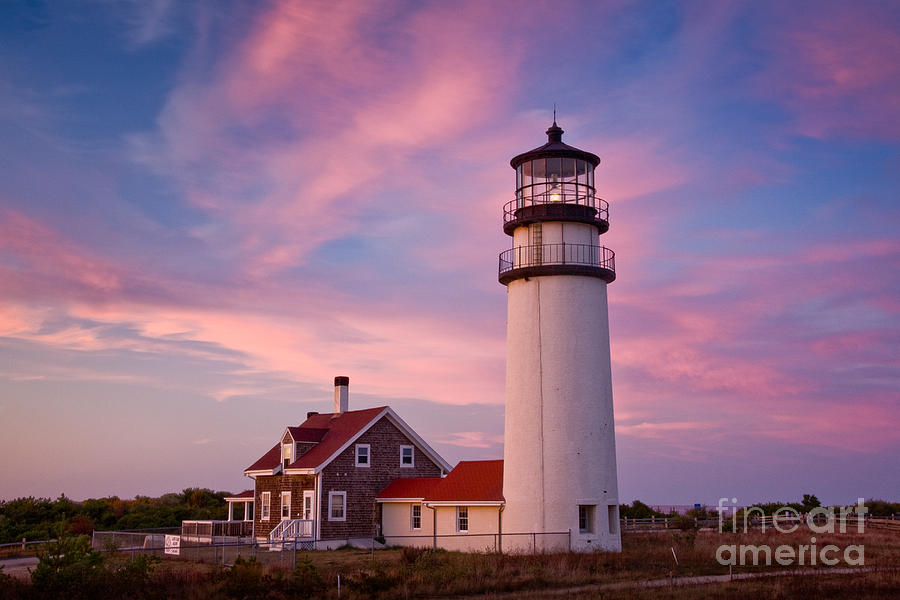 Days End Photograph - Cape Cod Light by Susan Cole Kelly
