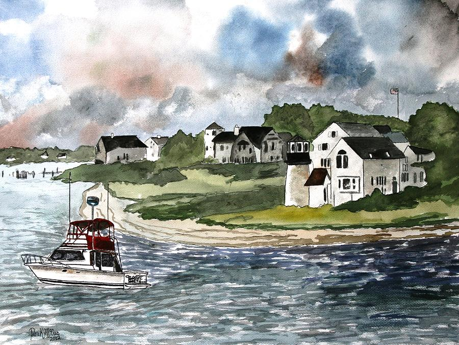 Lighthouse Painting - Cape Cod Lighthouse by Derek Mccrea