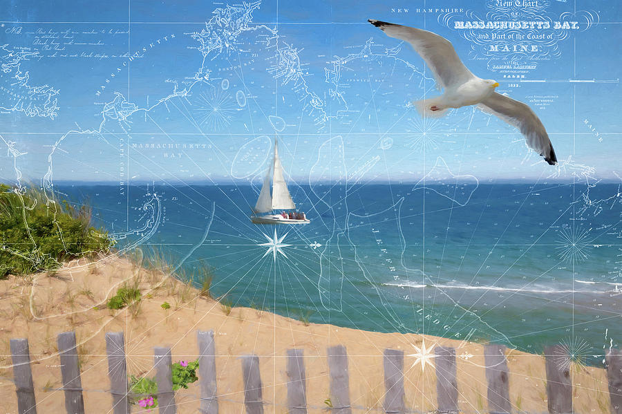 Cape Cod Seashore with Map by Barry Wills