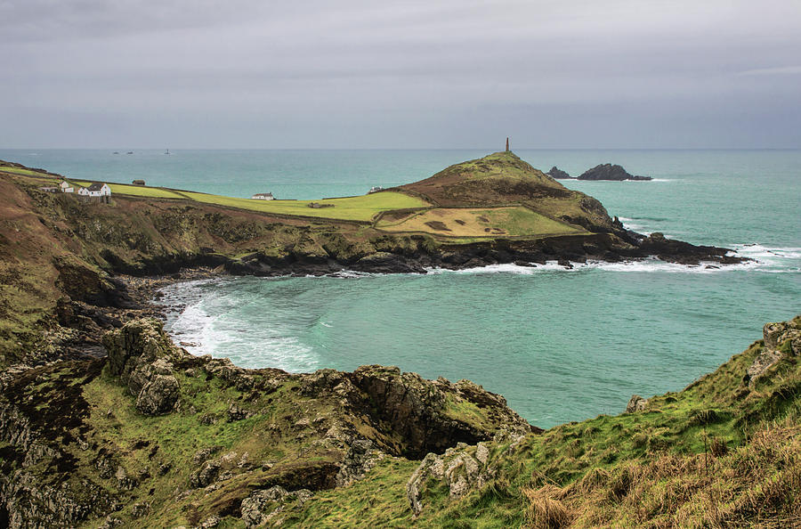 Cape Cornwall from Kenidjack Castle by Pete Hemington
