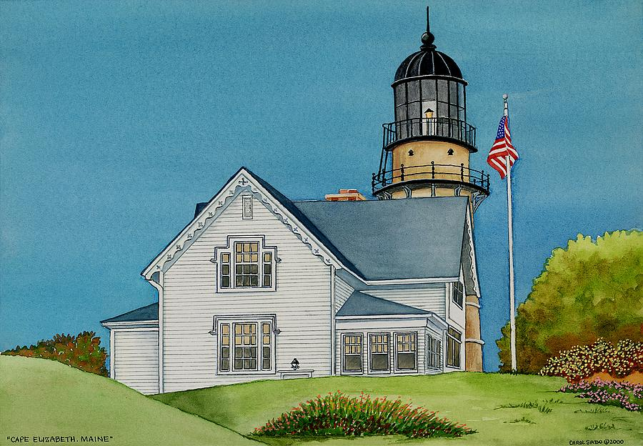 Landmark Painting - Cape Elizabeth Maine by Carol Sabo