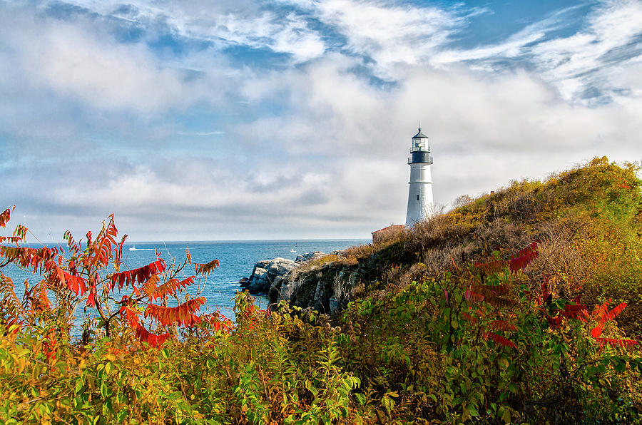 Cape Photograph - Cape Elizabeth Maine - Portland Head Lighthouse by Bill Cannon