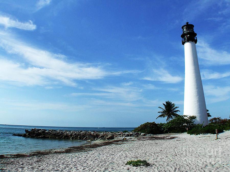 Key Biscayne Park Photograph - Cape Florida Lighthouse by Tammy Chesney