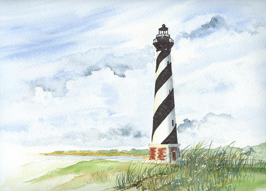 Lighthouse Painting - Cape Hatteras Lighthouse by Denise   Hoff