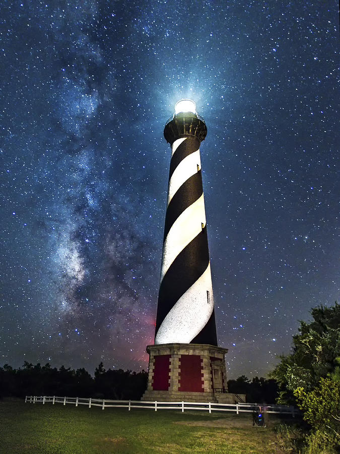 Cape Hatteras Lighthouse Milky Way Photograph By Allen Phelps