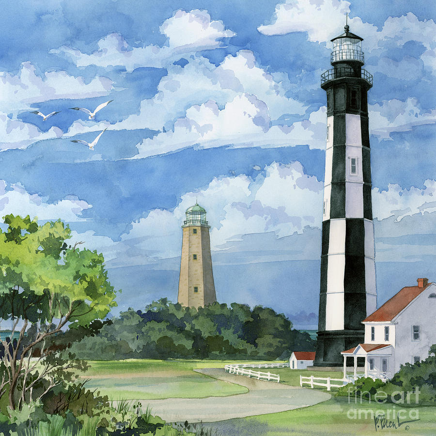Lighthouse Painting - Cape Henry by Paul Brent
